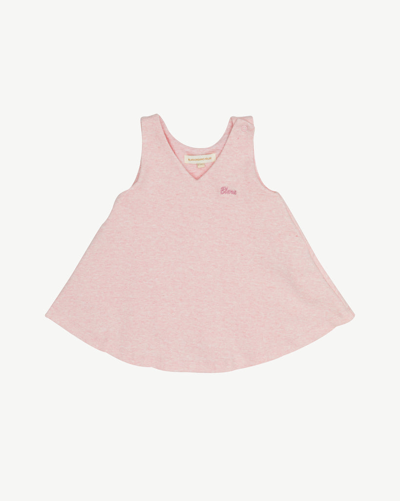 Ballet Pink - Drapy Spring Dress with Embroidery | Blara Organic House | Sustainable Fashion for Girls