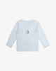 Blue - Sailboat Embroidery Kimono Shirt Snap Buttons | Blara Organic House | Sustainable Baby Clothing