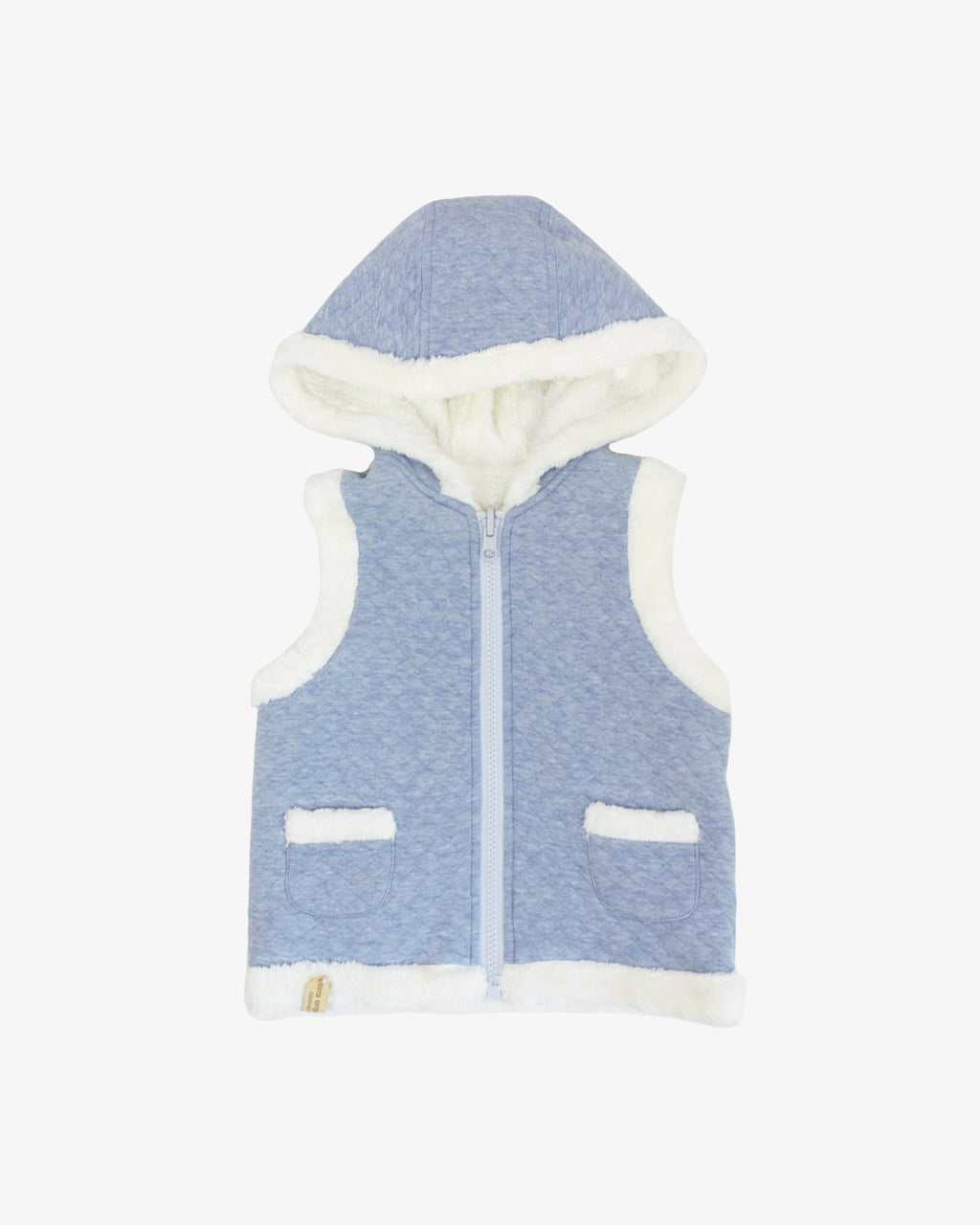 EMBROIDERED INVERTIBLE HOODY VEST