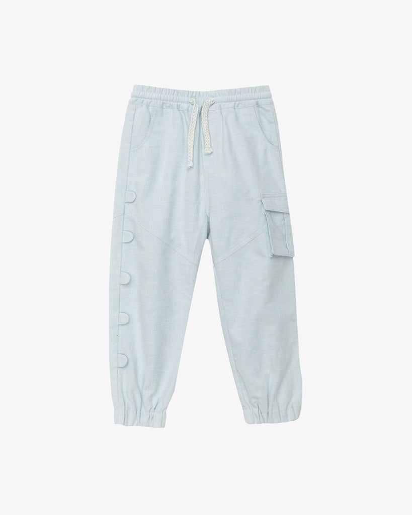 Sky Blue - Jumpy Cargo Sweatpants | Blara Organic House | Sustainable Fashion for Boys