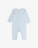 Blue Cotton - Long Sleeves - Long Sail Embroidered Romper | Blara Organic House | Sustainable Baby Clothing