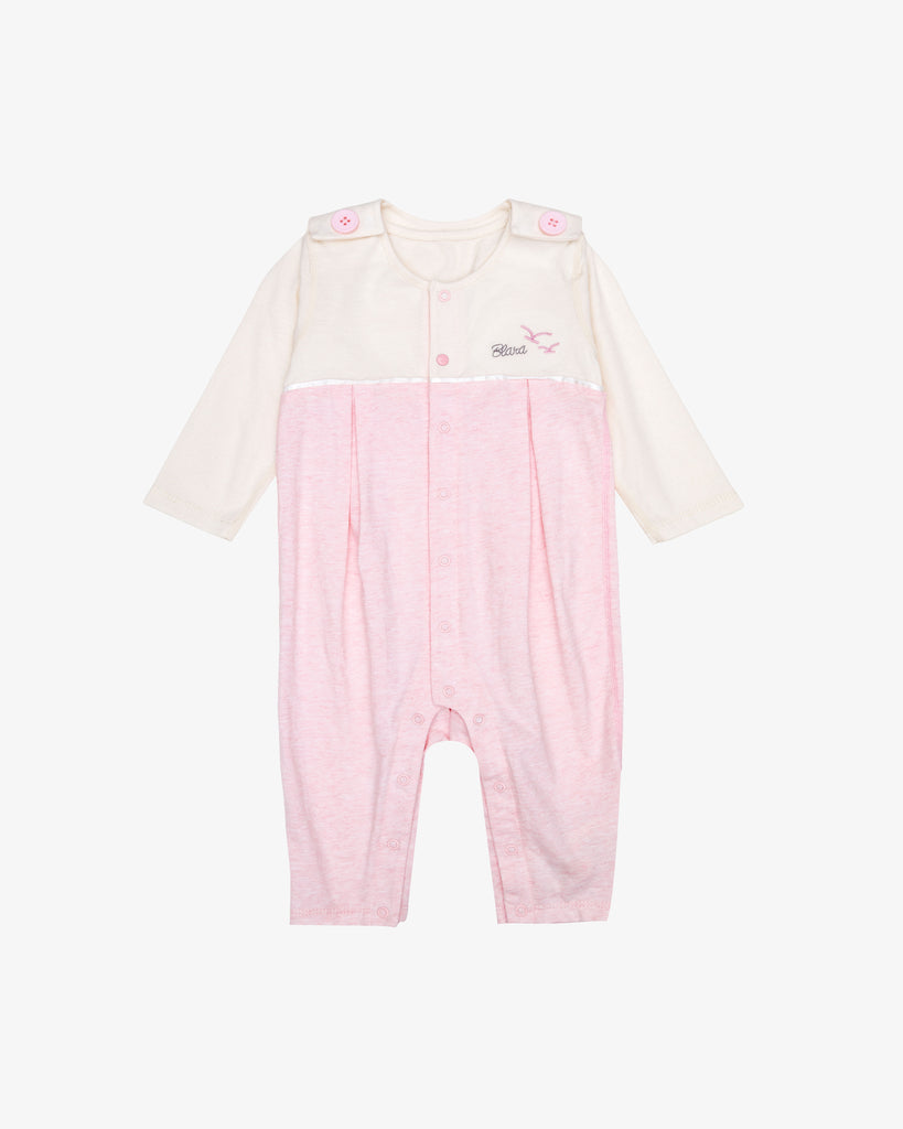 Cute Pink All-in-One Romper | Blara Organic House | Sustainable Baby Clothing