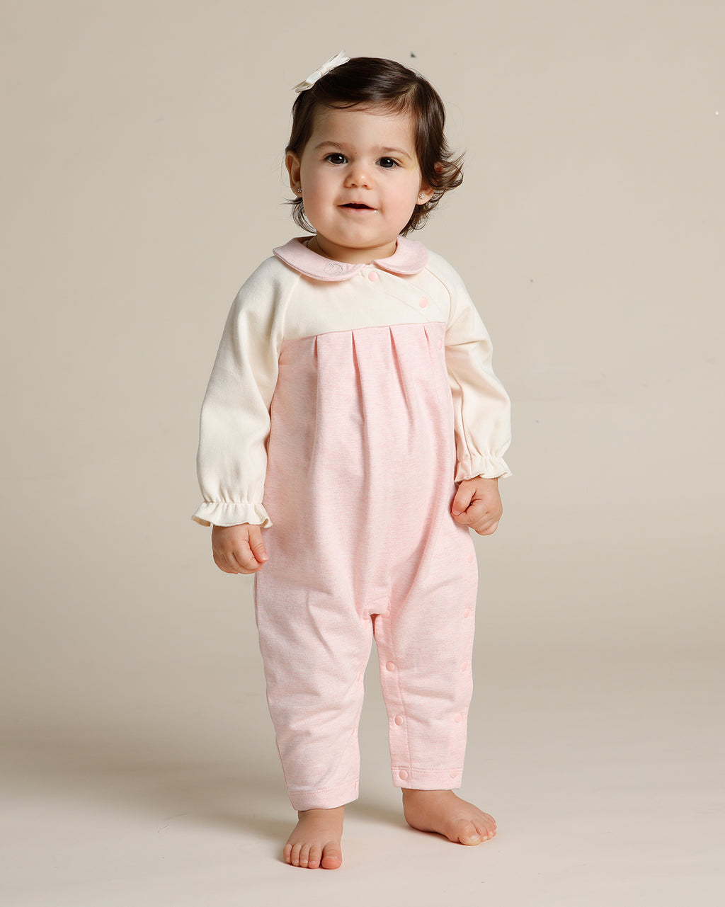 RAGLAN GATHERED ROMPER