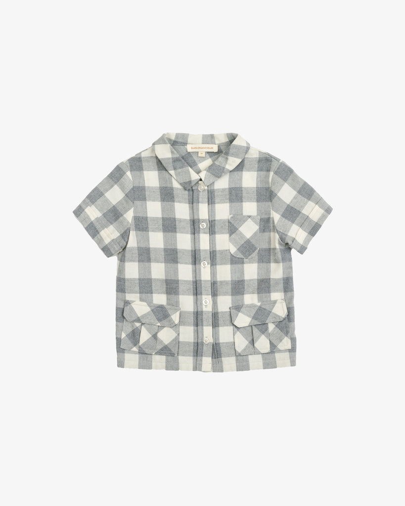 Cool Boy Shirt - Checkered Pattern | Blara Organic House | Sustainable Fashion for Boys