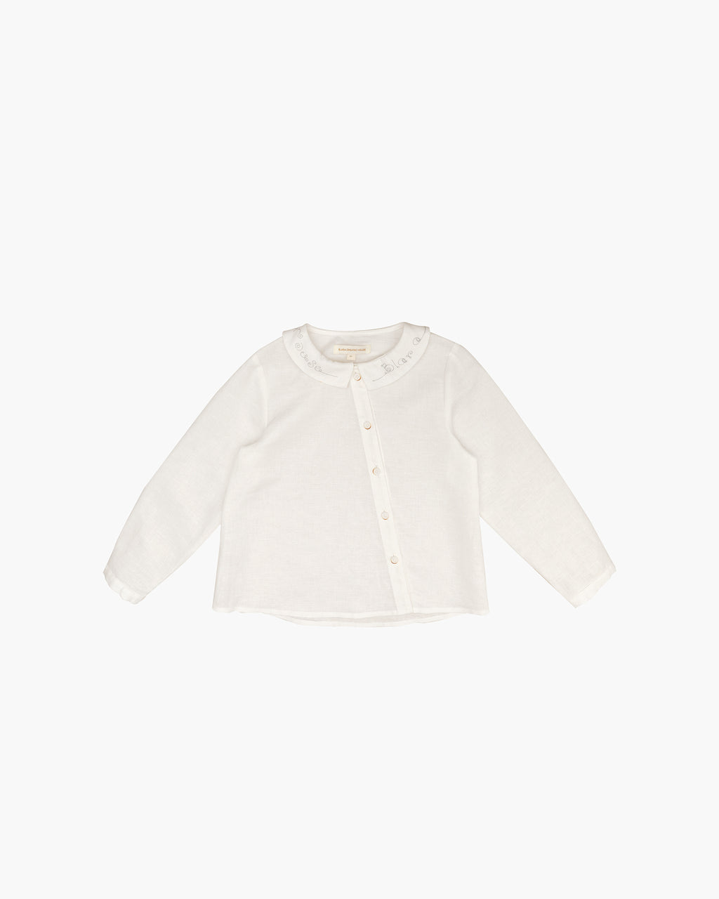 LINEN EMBROIDERY COLLAR SHIRT