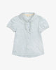 Sky Blue - Fancy Princess Polo Blouse with Ruffles | Blara Organic House | Sustainable Fashion for Girls