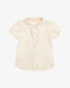 Natural Cotton Colour - Fancy Princess Polo Blouse with Ruffles | Blara Organic House | Sustainable Fashion for Girls