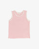 Pink Textured Cotton - Reach for the Star Tank Top | Blara Organic House | Sustainable Fashion for Kids