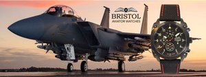 F-15 tribute Aviatoe Watch by Bristol Watch Company