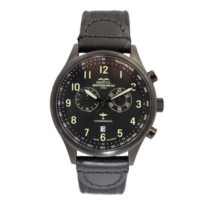 Spitfire - Black Finish, Black Canvas Band - Bristol Aviator Watches, Bristol Watch Company, www.bristolwatchcompany.com