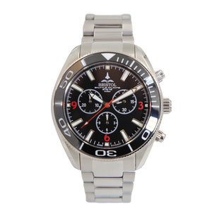 Space Shuttle Atlantis - Stainless Steel, Black Dial - Bristol Aviator Watches, Bristol Watch Company, www.bristolwatchcompany.com