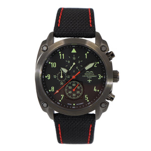 A-10 Thunderbolt - Black Finish, Kevlar Band - Bristol Aviator Watches, Bristol Watch Company, www.bristolwatchcompany.com