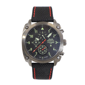 F-15 Eagle - Gunmetal Finish, Kevlar Band - Bristol Aviator Watches, Bristol Watch Company, www.bristolwatchcompany.com