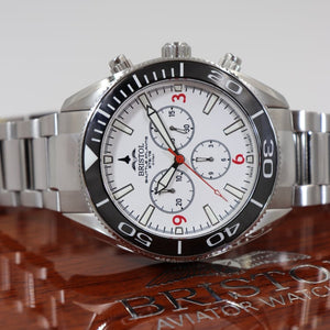 Space Shuttle Atlantis - Stainless Steel, White Dial - Bristol Aviator Watches, Bristol Watch Company, www.bristolwatchcompany.com
