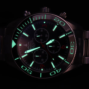 Space Shuttle Atlantis - Black Dial, Leather Band - Bristol Aviator Watches, Bristol Watch Company, www.bristolwatchcompany.com
