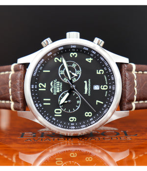 R6753 - Our Spitfire R6753 Tribute - Stainless Steel, Brush Finish, Brown Leather Band