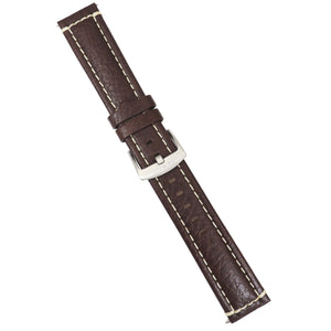 Strap - Brown Leather Strap - Beige Stiching - 22mm - Bristol Aviator Watches, Bristol Watch Company, www.bristolwatchcompany.com