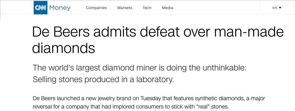 Diamond Foundry Welcomes De Beers to the Future of Diamonds