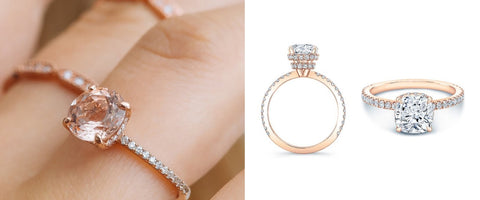 Brides: 92 Rose Gold Engagement Rings For Every Bridal Style