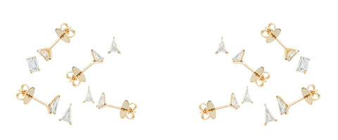"Vogue: Jennifer Fisher Is Joining the Lab-Grown Diamond Movement, Starting With These Asymmetrical ""Micro Studs"""