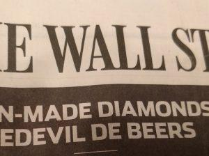 WSJ: De Beers Tries to Counter the Threat of Cultivated Diamonds