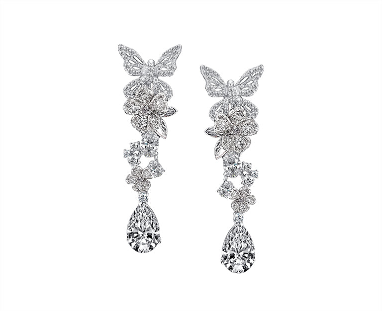 DIAMOND VINE EARRINGS