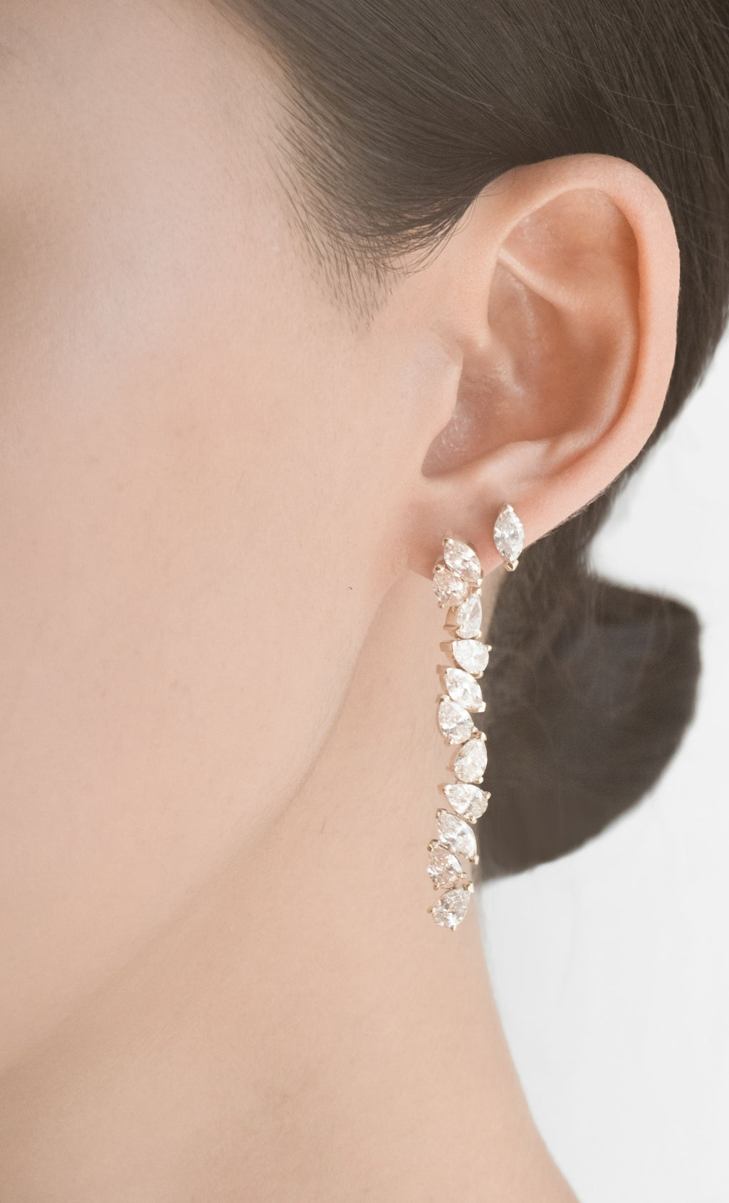 MARQUISE AND PEAR WATERFALL EARRING