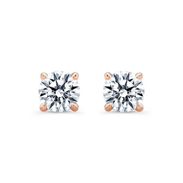 Round 4 Prong Diamond Stud Earrings