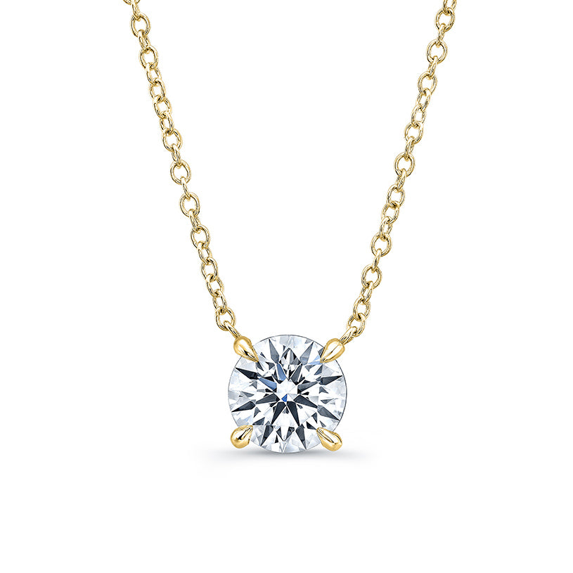 7865183e7ac03 Round 4 Prong Diamond Necklace