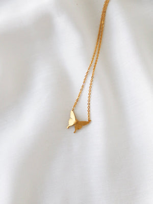 Baby Butterfly Necklace - Gold - necklace - monday merchant
