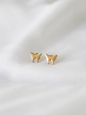 Baby Butterfly Studs - Gold | Silver - earrings - monday merchant
