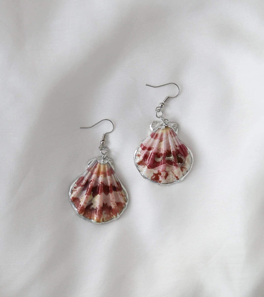 Calico Shell Earrings - earrings - monday merchant