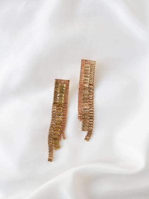 Celia Drop Earrings - Gold - earrings - monday merchant