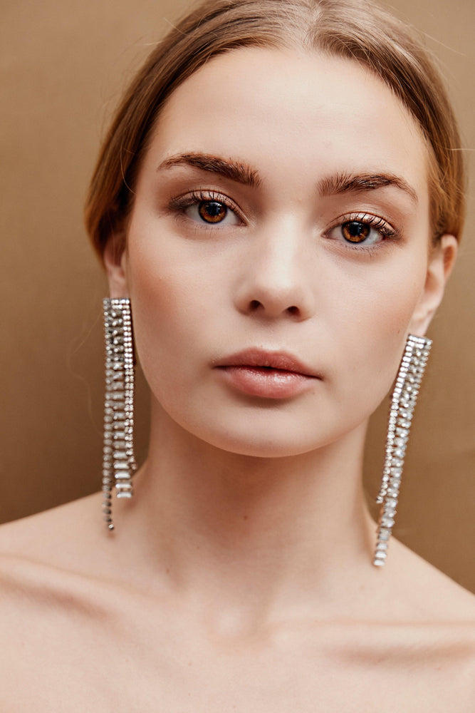 Celia Drop Earrings - Silver - earrings - monday merchant