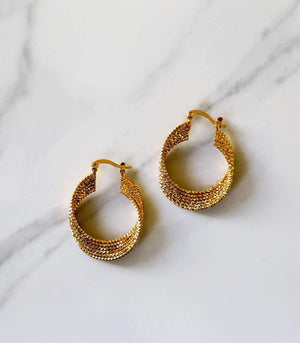 Chico Mini Hoop - Gold - earrings - monday merchant
