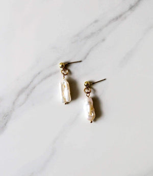 Cushla Freshwater Pearl Earrings - earrings - monday merchant