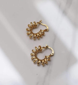 Danza Mini Hoop - Gold - earrings - monday merchant