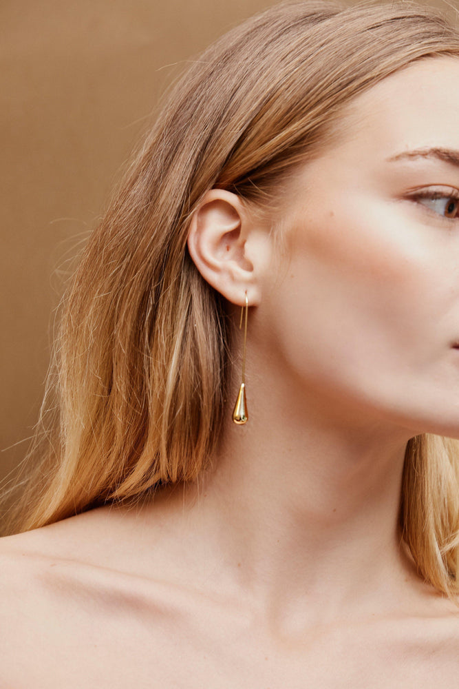 Dylan Drop Earrings - Gold