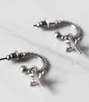 El Nino Stud - Silver - earrings - monday merchant
