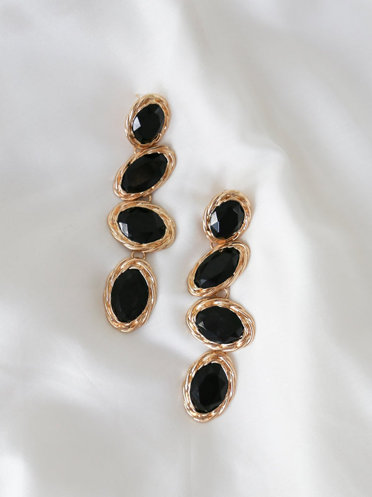 Elise Drop Earrings - Black | Multi - earrings - monday merchant
