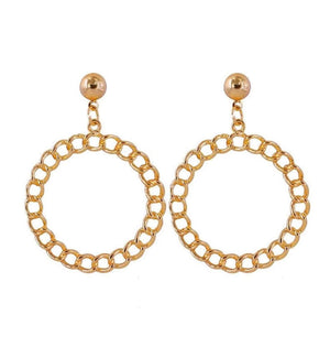 G Earring - Gold - earrings - monday merchant
