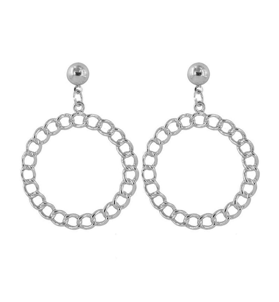 G Earring - Silver - earrings - monday merchant