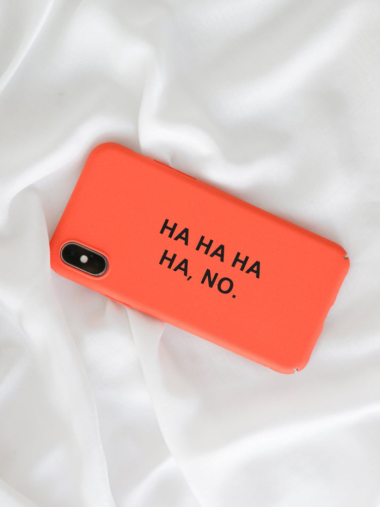 HA, NO iPhone Case - Phone Case - monday merchant