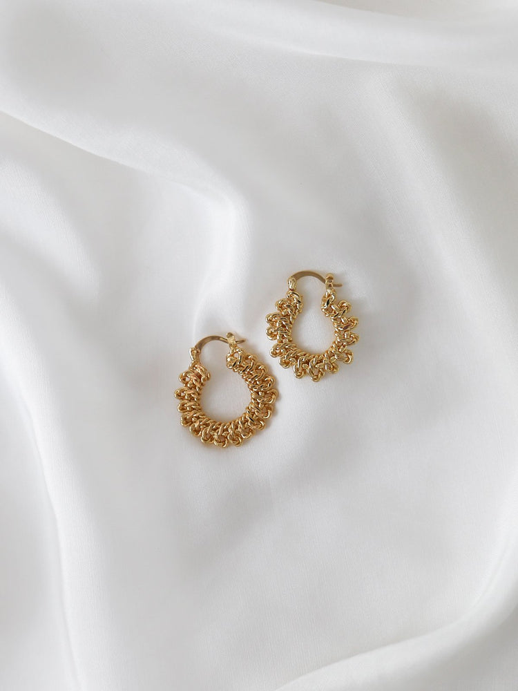 Knotted Hoops - Gold | Silver-Monday Merchant