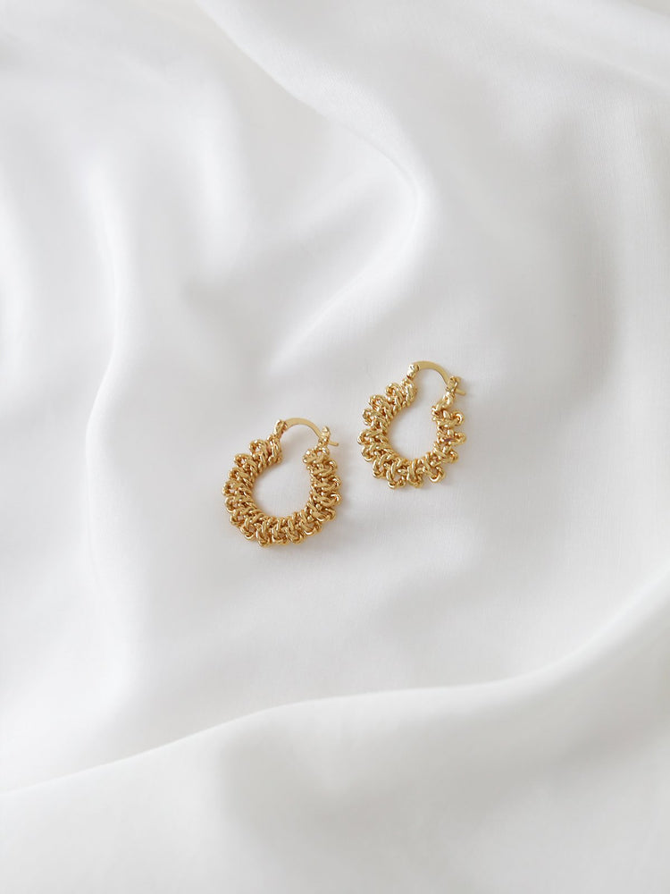 Knotted Hoops - Gold | Silver - earrings - monday merchant