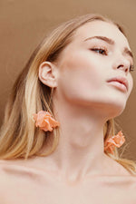 Lumière Drop Earrings - Gold/Peach - monday-merchant