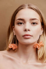 Lumière Drop Earrings - Gold/Peach