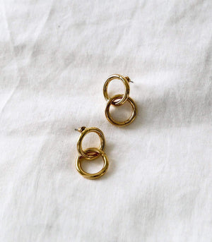 Lupe Earring - Gold - earrings - monday merchant