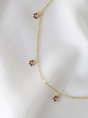 Mini Flower Necklace - Gold - necklace - monday merchant