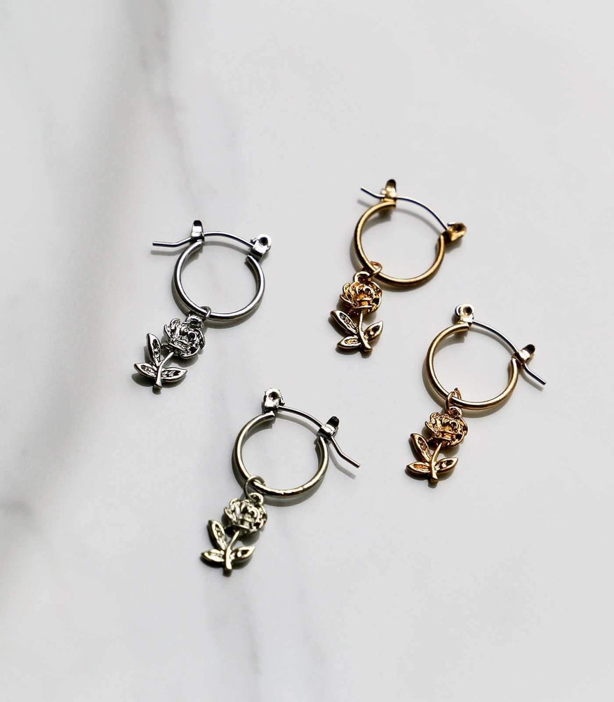 Mini Rosa Hoop Earrings